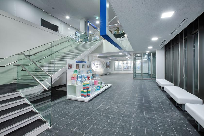 Oji Container - Fukushima plant entrance exhibit