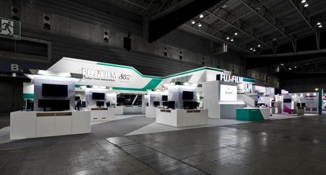 国際医用画像総合展2014富士フイルムメディカルブース設営工事